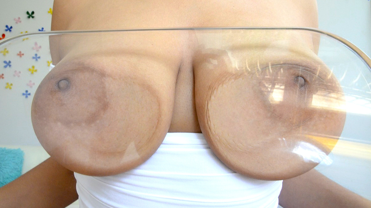 Big titted milf loves to press her large nipples against the cool glass table and it increases the pleasure she gets from the dick ramming her ass.